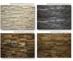 Caveman Stone Products - Love the White Quartzinite Fireplace stone Stone Veneer Fireplace, Stacked Stone Fireplaces, Black Fireplace, Fireplace Makeovers, Fireplace Ideas, Home Upgrades, Living Room Remodel, Wall Cladding, Basement Remodeling