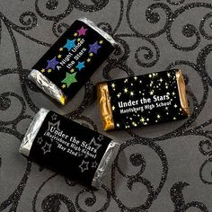 These Stars Mini Candy Bar Wrapper Favors allow you to choose from one of our star studded designs.