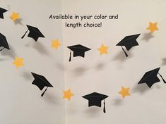 Graduation decorations – Graduation cap Garland – 2017 graduation cake table decor- college/high school graduation decor- your color choice – Site Today High School Parties, College Graduation Parties, Graduation Banner, Kindergarten Graduation, Graduation Celebration, Graduation Decorations, Graduation Food, Gift Table Wedding, Wedding Gifts