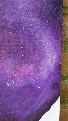 Druppels ruimte originele abstract schilderij door TheMindBlossom