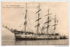 """Quatre-mâts barque """"Taracapa"""" de l'armement Bordes"""