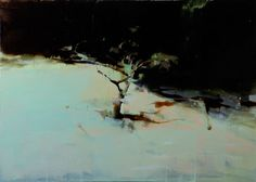 "wetreesinart:  Alex Kanevsky (Russia 1963-….), Tree, oil on wood, 24"" x 32"", 2008"