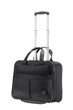 "CityVibe Jet Black Rolling Tote 16"" #Samsonite #CityVibe #Travel #Suitcase #Luggage #Strong #Lightweight #MySamsonite #ByYourSide"