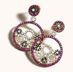 Zoya España collection ruby and diamond earrings.