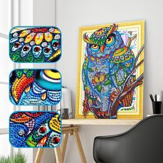 Heartful Diamonds offers a unique & personalized way for people of all ages to create diamond painting pieces in your time. Diamond Art, Diamond Design, Owl Writing, Weird Shapes, Wise Owl, 5d Diamond Painting, Hand Designs, Beautiful Paintings, Colored Diamonds