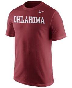 Nike Men's Oklahoma Sooners Wordmark T-Shirt - Red S