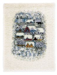 Rya Rug, Wool Rug, Shaggy, Hand Sewing, Weaving, Wall Decor, Textiles, Quilts, Rugs