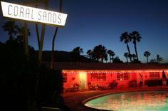 Arizona palm trees @  a vintage hotel