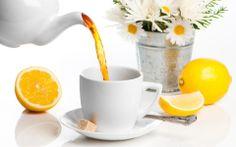 Té aromatizado con naranja y limón