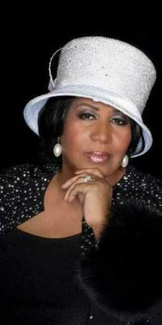 Aretha Franklin, Queen of Soul American singer, songwriter, and pianist. #millinery #judithm #hats Metallic braid cloche