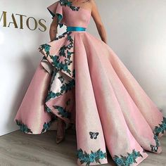 Eightree Arabic Shinning Ball Gown Pink Evening Gowns Long Party Dress Lace up Sexy One Shoulder prom Dresses robe de Soiree Ball Dresses, Ball Gowns, Prom Dresses, Formal Dresses, Quinceanera Dresses, Long Dresses, Elegant Dresses, Pretty Dresses, Beautiful Dresses