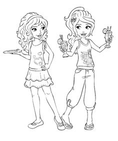 Friends Coloring Page For Kids