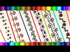 Embroidery On Paper How to decorate borders of project files File Decoration Ideas, Page Decoration, Page Borders Design, Border Design, Paper Embroidery, Embroidery Patterns, Outline Designs, Simply Stamps, Outline Drawings