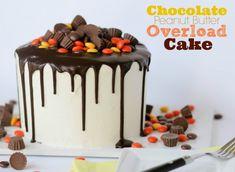 Chocolate Peanut Butter Overload Cake