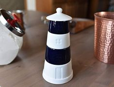 Amazon.com: KOVOT Ceramic Lighthouse Stackable Measuring Cups Set - Great For Summer Home or Beach House: Kitchen & Dining