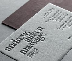 emboss business card design