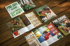Youth and Family Summer Camps Brochures - Pine Cove by Brad Wofford, via Behance