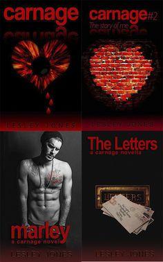 Românticos e Eróticos Book: Lesley Jones - Carnage #1 e #2