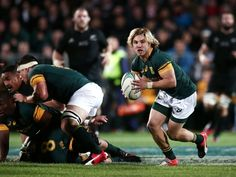 Scrum-half Faf de Klerk in action for South Africa against New Zealand Rugby, New Zealand, South Africa, Action, Running, News, Sports, Inspiration, Display