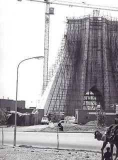 Shahyad Landmark in 1966 - under construction