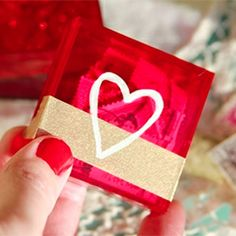 A thoughtful DIY idea for V-Day that will only take a few minutes to make and just a couple of bucks.