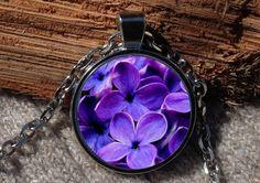 Lilac pendant Lilac necklace Lilac jewelry Lilac Lilac by Aranji