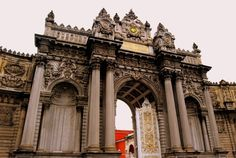 Dolmabahce Palace in Istanbul - The Last Days of the Ottoman Empire Entrance to Dolmabahce palace