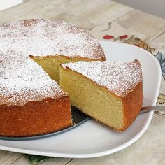 ALMOND CAKE, this is seriously my most favorite all time cakes, not too sweet, grown up cake. I won't disclose MY recipe but become a fan!