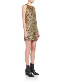 Saint Laurent Leopard Print Dress | Clothing