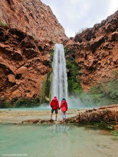 Mooney Falls Havasupai Indian Reservation Arizona // localadventurer.com