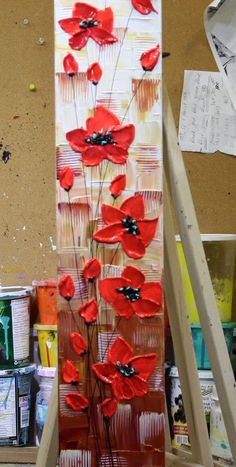 Ideas flowers painting artists red poppies for 2019 Acrylic Painting Flowers, Abstract Flowers, Poppies Painting, Flower Arrangements Simple, Wreath Drawing, Wedding Table Flowers, Artist Painting, Painting Abstract, Modern Artwork