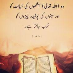 Allah seeno men chupi cheezen bakhubi janta he. Best Islamic Quotes, Quran Quotes Inspirational, Religious Quotes, Inspiring Quotes, Prophet Muhammad Quotes, Hadith Quotes, Urdu Quotes, Qoutes, Allah Quotes