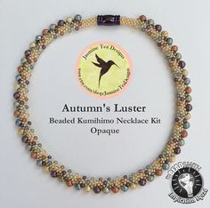 Autumn's Luster Opaque Beaded Kumihimo Necklace Kit and