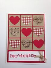 Who doesn't love a great game of Tic Tac Toe? Especially when it involves love! This card has lots of fun hearts in cute patterns! The kit includes all the supplies needed to make 5 complete cards plus envelopes. Valentines Day Cards Handmade, Valentine Greeting Cards, Valentine's Day Greeting Cards, Greeting Cards Handmade, Homemade Valentine Cards, Scrapbook Cards, Scrapbooking, Stampin Up Karten, Stamping Up Cards