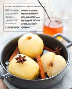 poached apples with star anise and cinnamon