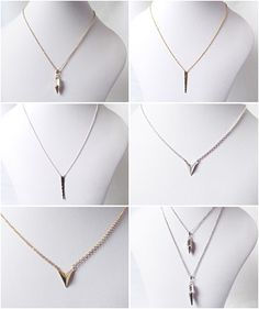 Spike and v necklaces perfect for layering now available in my store.