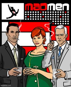 "Don Draper, Roger Sterling, and Joan Harris have been ""Archer-ized"" in celebration of Mad Men's long awaited season premiere last Sunday. We've already seen how Don operates on Madison Avenue, but it makes you wonder how well he'd fair in the... Danger Zone!"