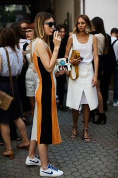 ace dress & kicks. Milan. #TheSartorialist