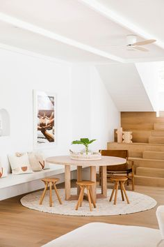 The breakfast space—House 10. By Three Birds Renovations x Sophie Bell, featuring Dulux White on White.