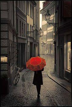 Red Rain Photographic Print