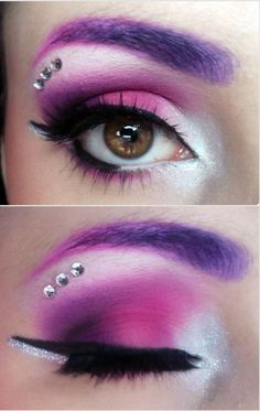Effin LOVE this … too bad I'm not even around to make that look on myse … – Halloween Make Up Ideas Looks Halloween, Halloween Makeup, Halloween Eyeshadow, Halloween Fairy, Purple Halloween, Unicorn Halloween, Unicorn Costume, Halloween Ideas, Halloween Costumes