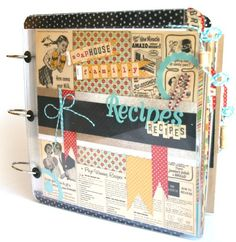 Recipe Scrapbook!! Uses Smashbox scrapbooking supplies. Bookmarked their website as well! Fabulous ideas to get you going. Heidi xoxo...