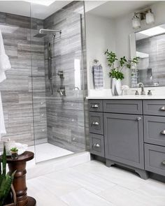 Double Bathroom Vanity Designs Ideas - If space authorizations, 2 sink areas provide wonderful benefit in shared washrooms. Locate ideas for bathroom vanities with double the space, . bathroom ideas Top 10 Double Bathroom Vanity Design Ideas in 2019 Bathroom Vanity Designs, Bathroom Layout, Bathroom Interior Design, Bathroom Vanities, Sinks, Bathroom Showers, Boho Bathroom, Minimal Bathroom, Bathroom Bin
