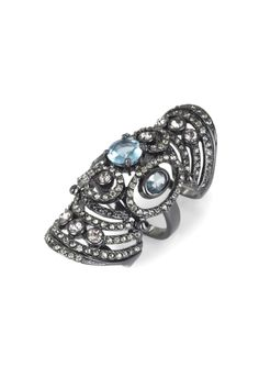ARMOR RING WITH STONES by BCBG