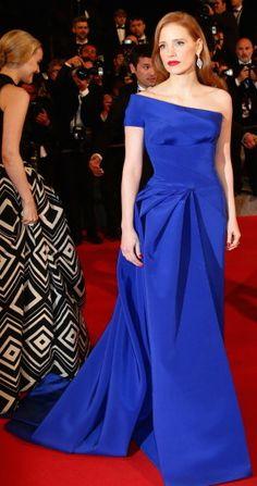 Jessica Chastain in Atelier Versace #Cannes2014 jαɢlαdy