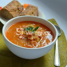 Zelňačka s klobásou recept - Vareni.cz Thai Red Curry, Food And Drink, Soup, Ethnic Recipes, Savoury Recipes, Arizona, Soups