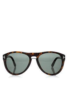 ec1198b04d5 Tom Ford - Kurt Aviator shiny dark havana brown frames