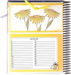 August page of Card Organizer by DRStamper - Cards and Paper Crafts at Splitcoaststampers Card Organizer, Organizers, Paper Crafts, Craft Ideas, Organization, Birthday, Cards, Getting Organized, Organisation