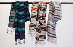 Timket navy cotton scarf 70 x 200 Fair Trade   Etsy