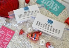 Cute idea for Valentine Friendship Treat Bags -- not overly gushy - suitable to give to friends.